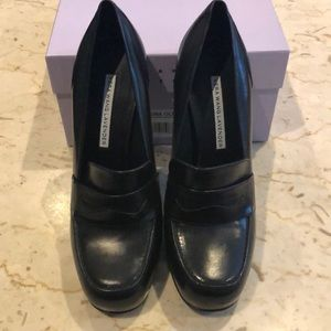 Vera Wang Lavender penny loafer heels